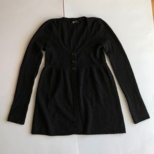 Aqua Black  Cashmere Cardigan size S/M